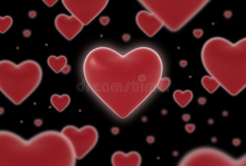 Coeurs de flottement toujours image libre de droits