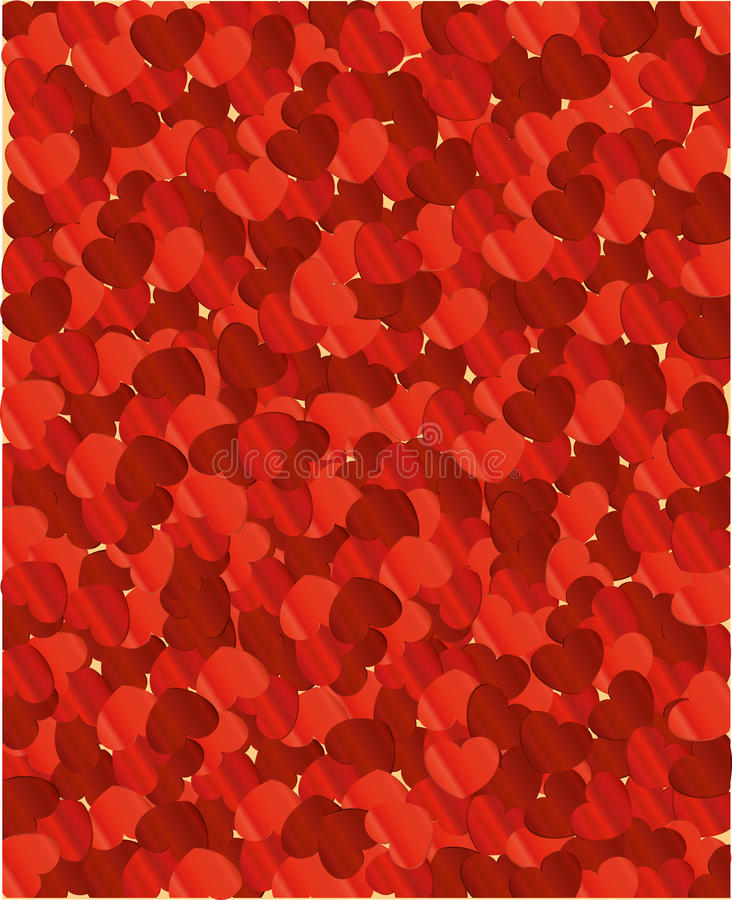 Coeurs de fond Jour du `s de Valentine carte Vous pouvez coller le texte illustration de vecteur