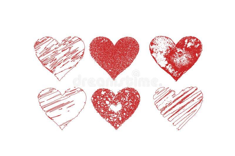 Coeurs de jour de valentine´s de vecteur réglés photos stock