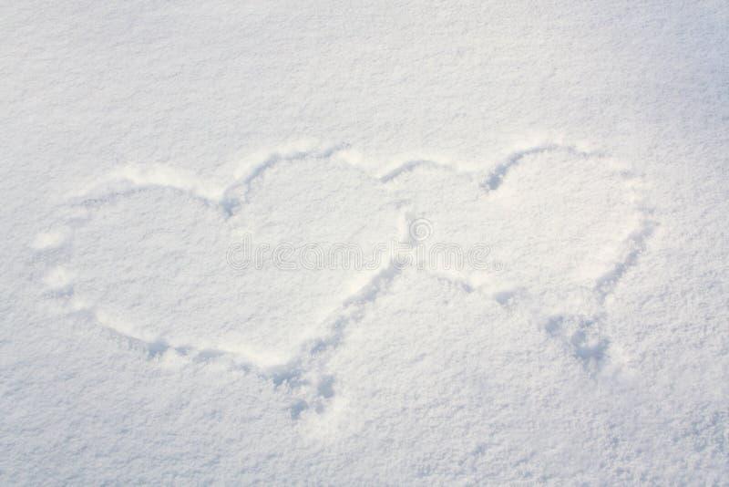 Coeurs de neige image stock