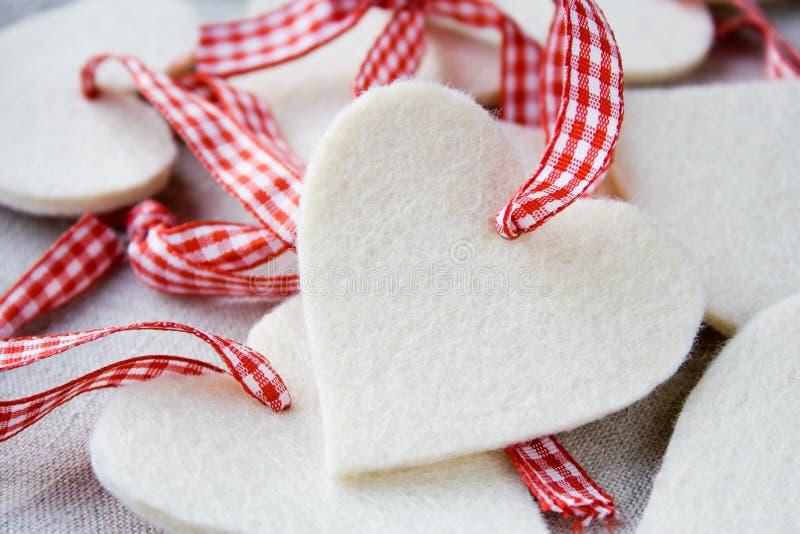 Coeurs de Noël photographie stock libre de droits