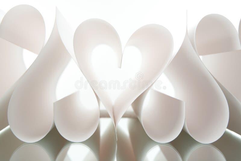 Coeurs de papier photos stock