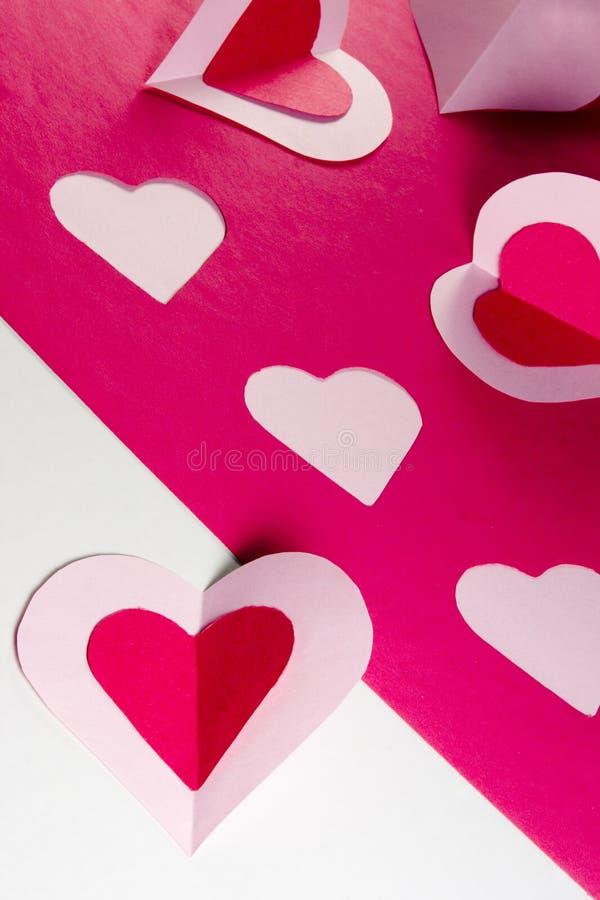 Download Coeurs de papier photo stock. Image du valentines, coeur - 57480