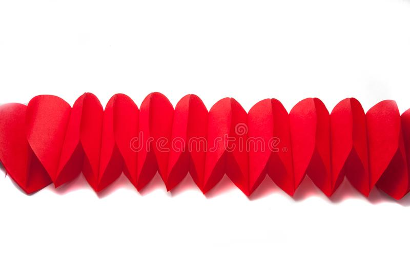 Coeurs de papier de valentines image stock