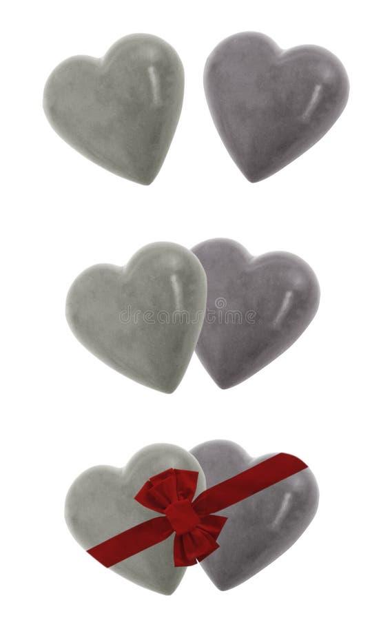 Coeurs de roche en planche photo libre de droits