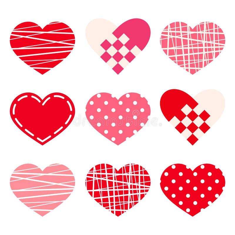 Coeurs de Saint-Valentin Vecteur EPS-10 illustration stock