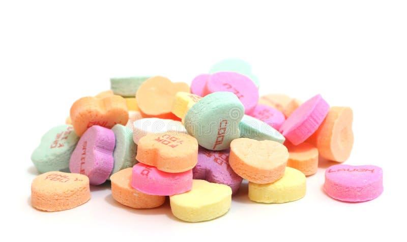 Coeurs de sucrerie de valentines images stock