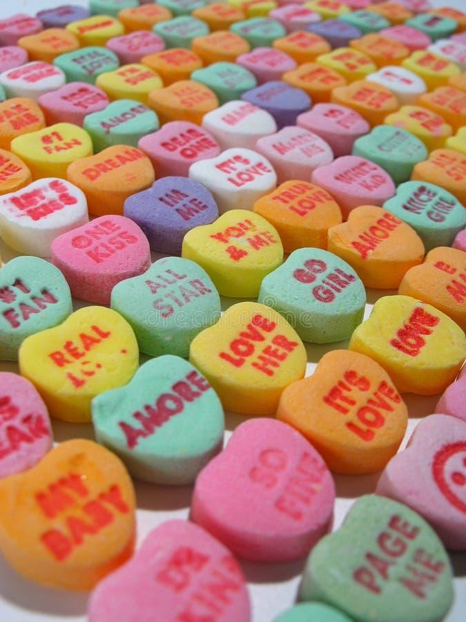 Coeurs de sucrerie pour toujours photo libre de droits