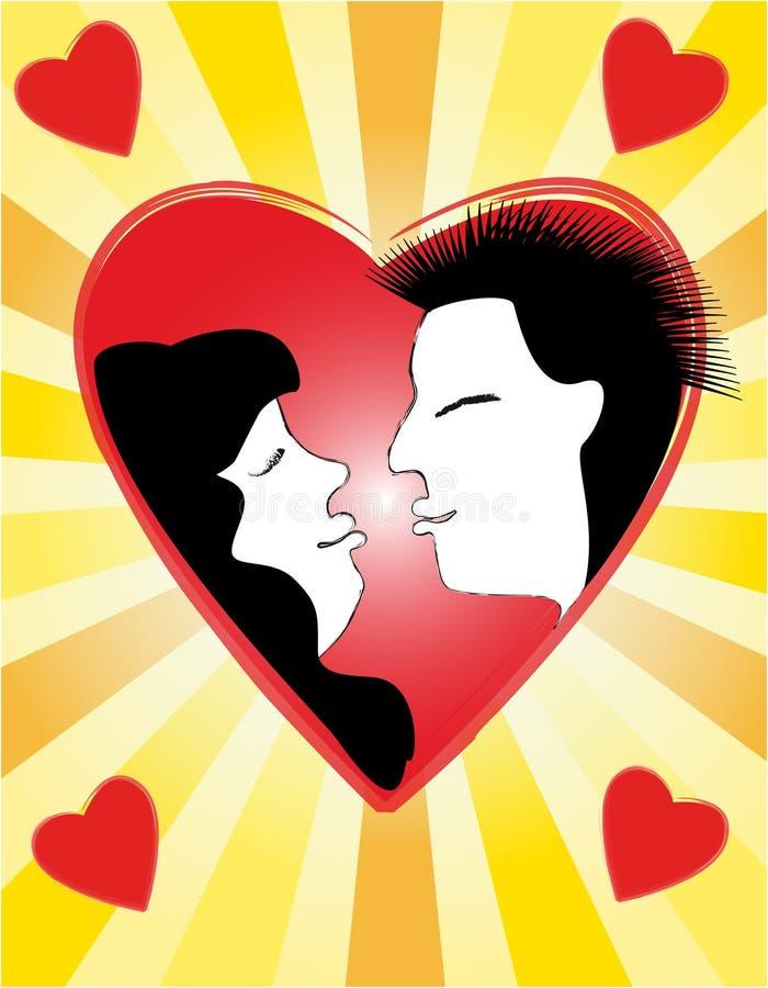 Coeurs de Valentin´s illustration libre de droits