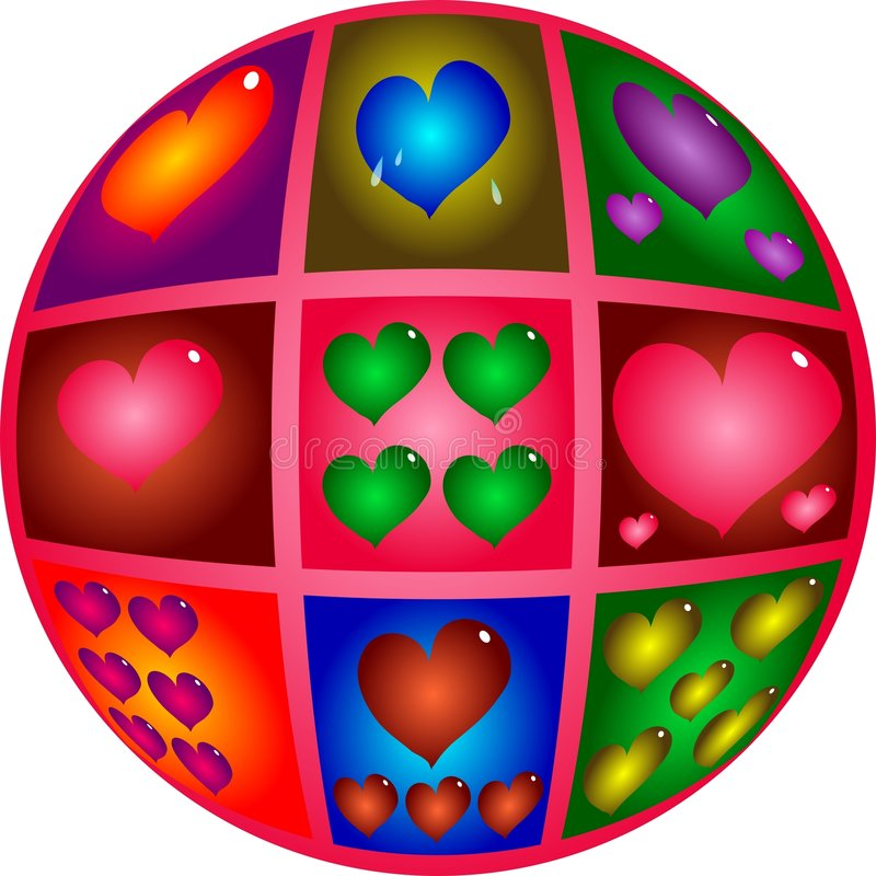 Coeurs De Valentine Photos libres de droits
