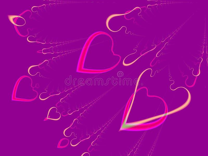 Coeurs de Valentine (vol) illustration libre de droits