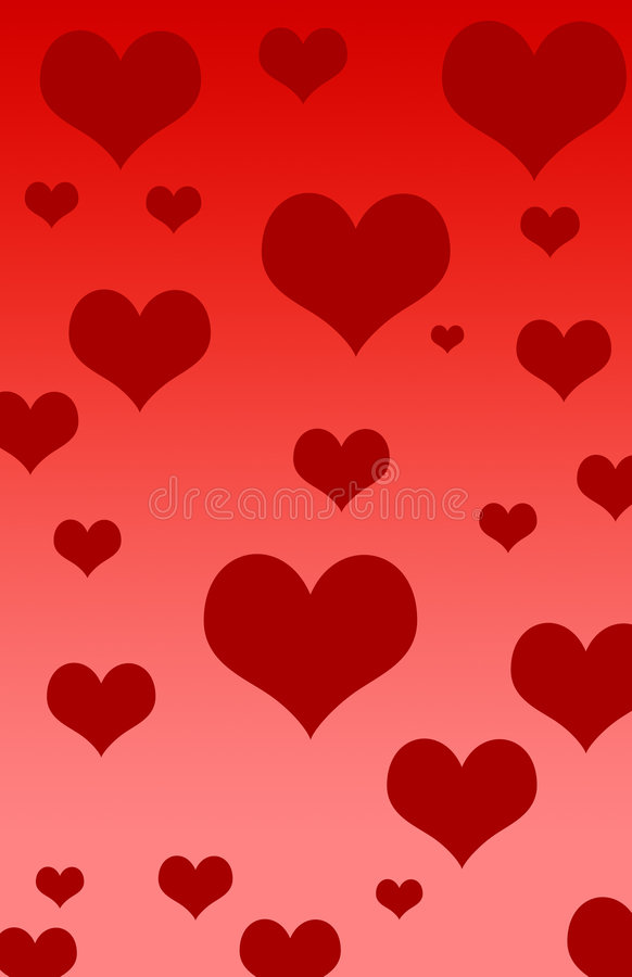 Coeurs de Valentines illustration stock