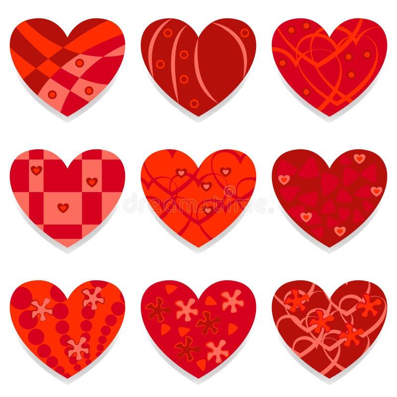 Coeurs de vecteur réglés illustration libre de droits