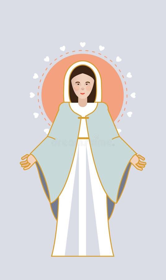 Coeurs de Vierge Marie image libre de droits