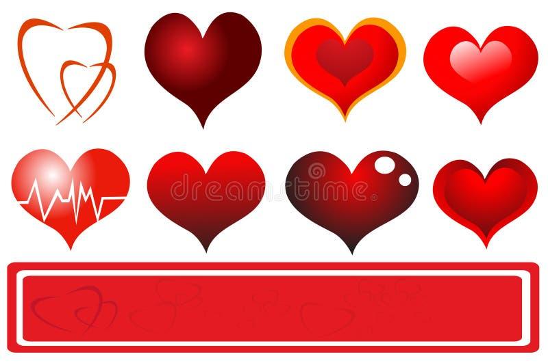Coeurs dernier cri illustration libre de droits