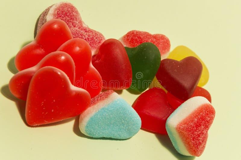 Coeurs doux de sucrerie images libres de droits