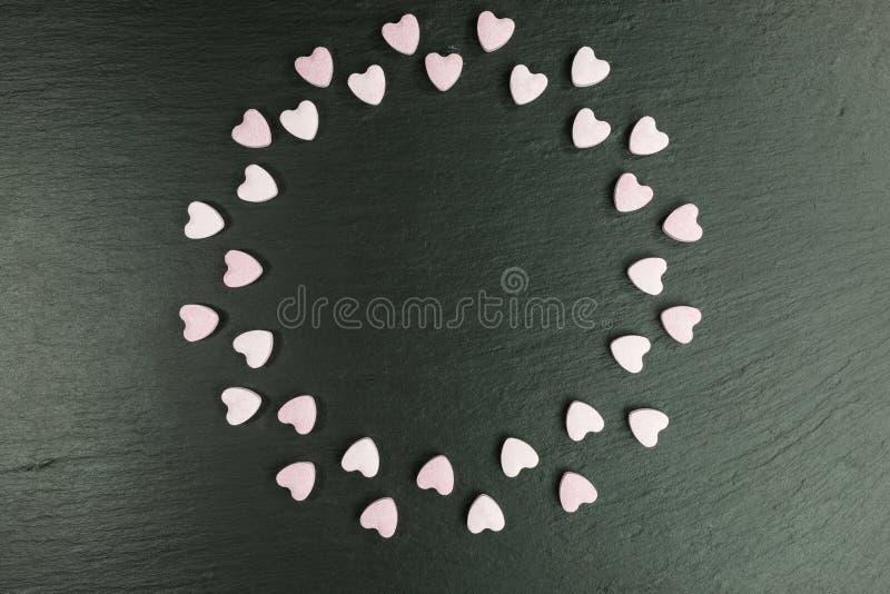 Coeurs doux de sucrerie de sucre photographie stock libre de droits