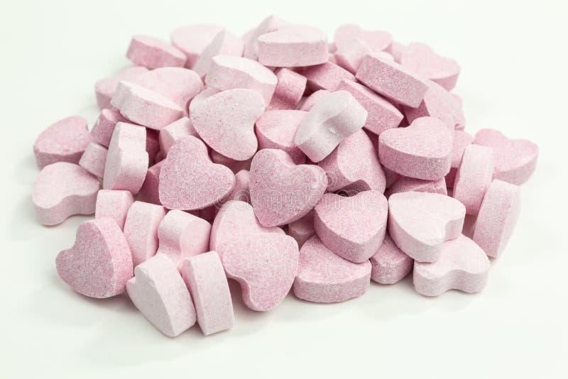 Coeurs doux de sucrerie de sucre images stock