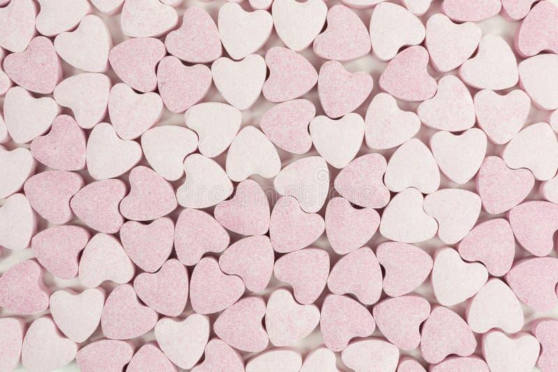 Coeurs doux de sucrerie de sucre images libres de droits