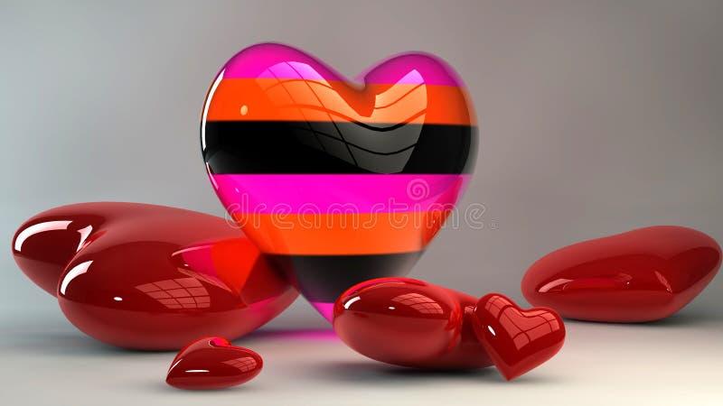 Download Coeurs Du Jour De Valentine Illustration Stock - Illustration du jour, créateur: 45370318