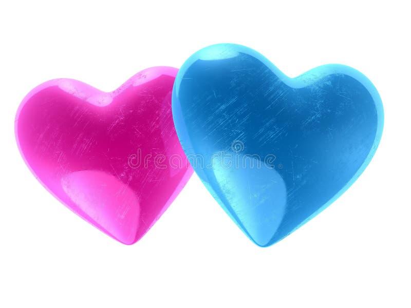 Coeurs du `s de Valentine illustration de vecteur