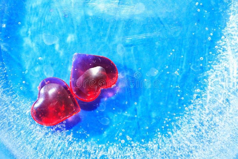 Coeurs en glace photo libre de droits