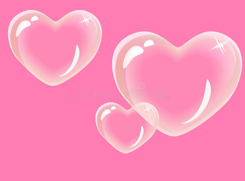 Coeurs en verre illustration libre de droits