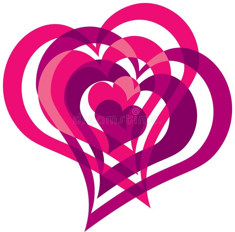 Coeurs enlacés illustration stock