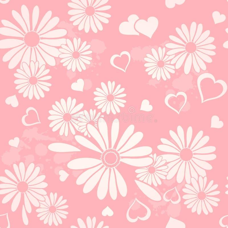 Coeurs et conception de fleurs illustration de vecteur
