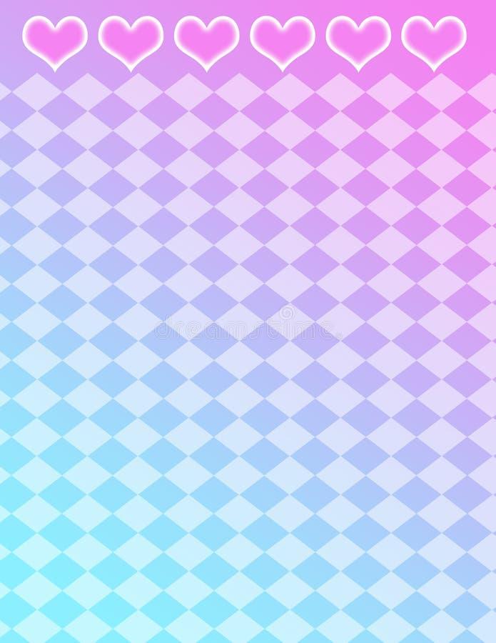 Coeurs et fond de tuiles--fond de gradient photo stock