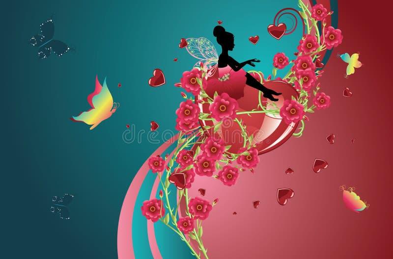 Coeurs et roses illustration libre de droits