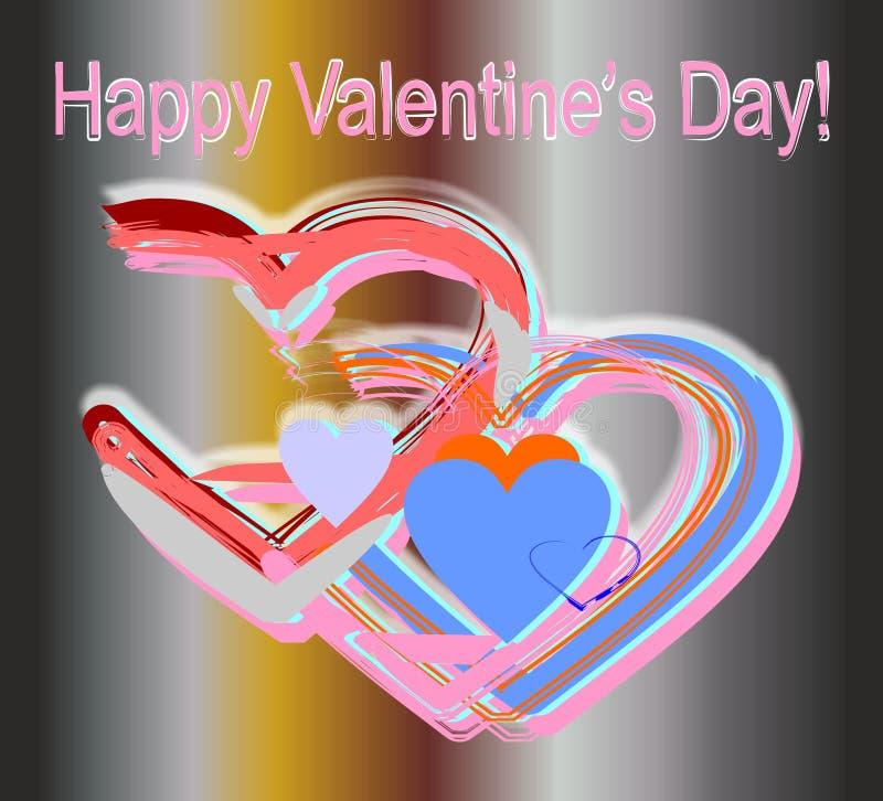 Coeurs fabriqués à la main roses illustration libre de droits