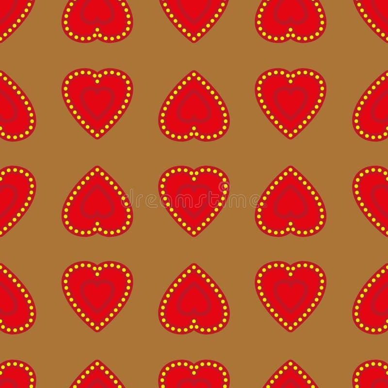 Coeurs fond, texture de vacances de Saint-Valentin, fond de empaquetage de cadeau illustration de vecteur