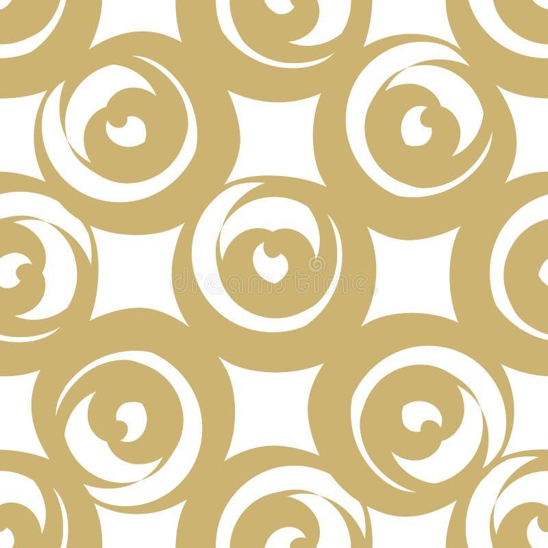 Download Coeurs formés ronds d'or illustration de vecteur. Illustration du ornement - 87709368