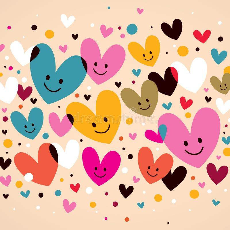 Coeurs mignons illustration libre de droits
