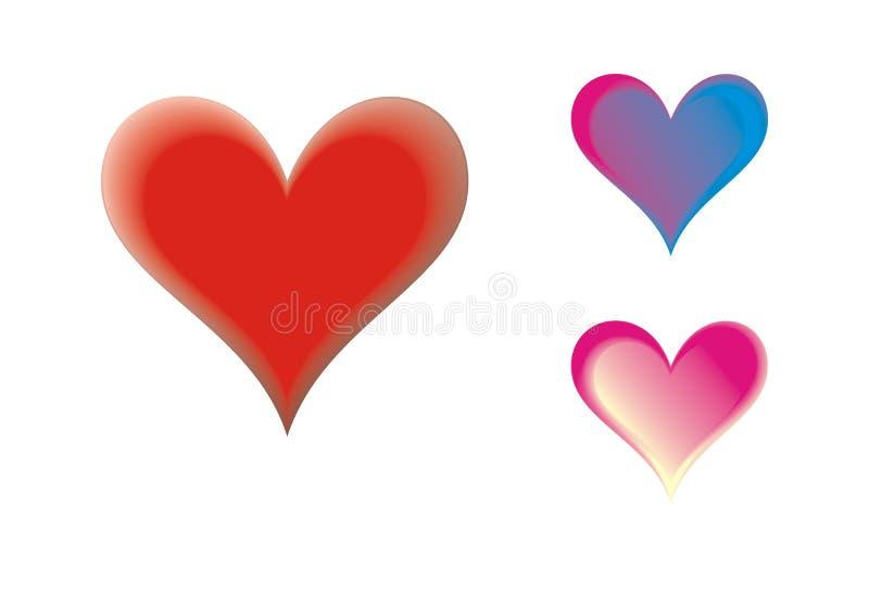 Coeurs Multicolores Photos stock