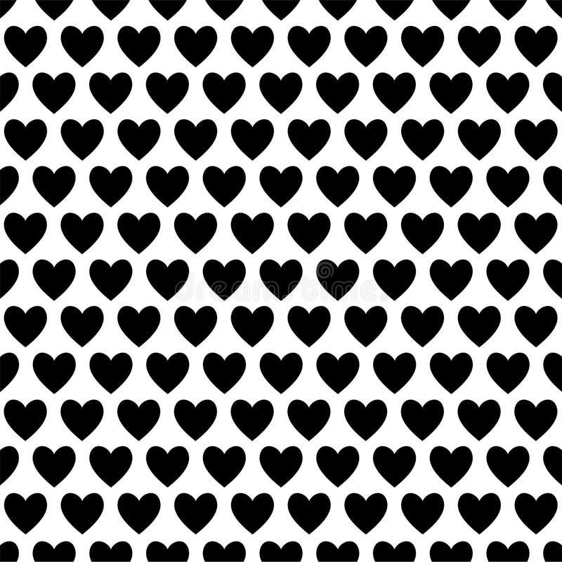 Coeurs noirs et blancs d'amour illustration stock