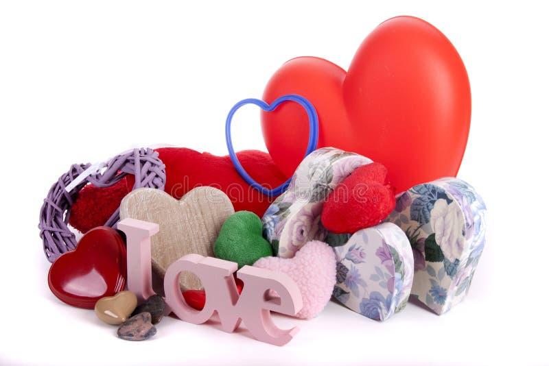 Coeurs pour Valentine images libres de droits