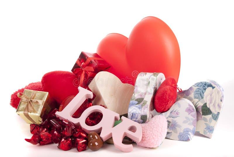 Coeurs pour Valentine photos libres de droits