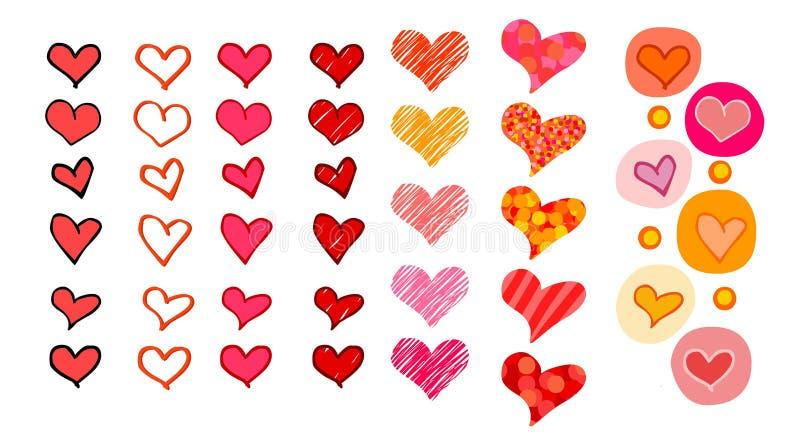 Coeurs réglés illustration stock