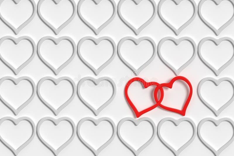 Coeurs reliés illustration de vecteur