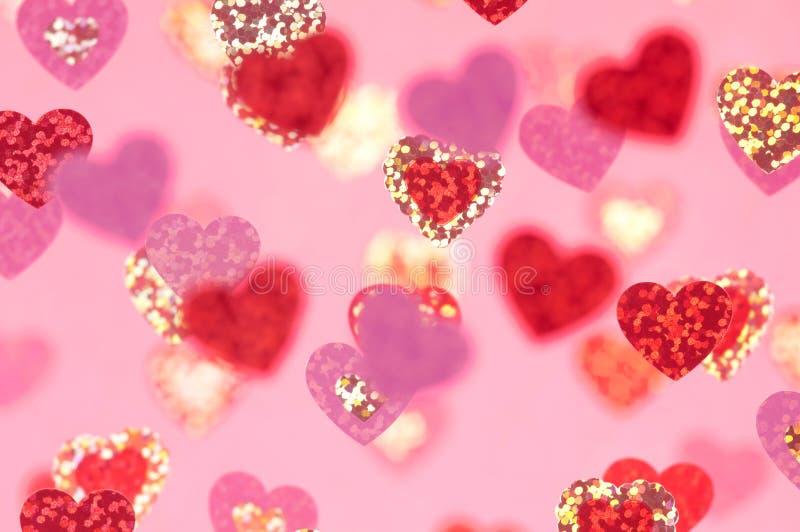 Coeurs roses abstraits pour la Saint-Valentin image libre de droits