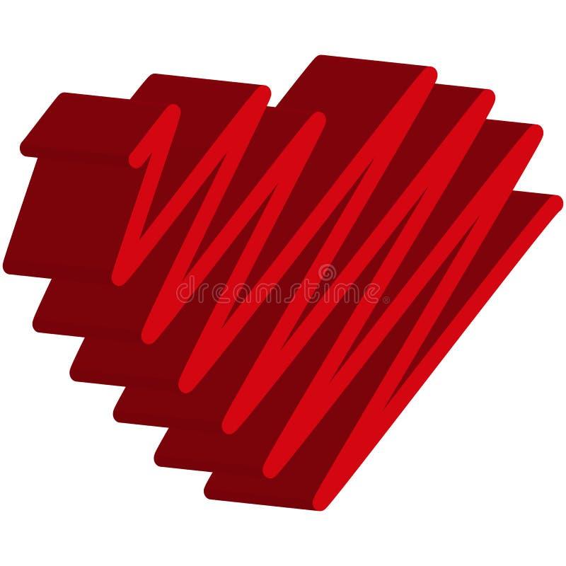Coeurs rouges Éléments pour la Saint-Valentin de conception illustration libre de droits