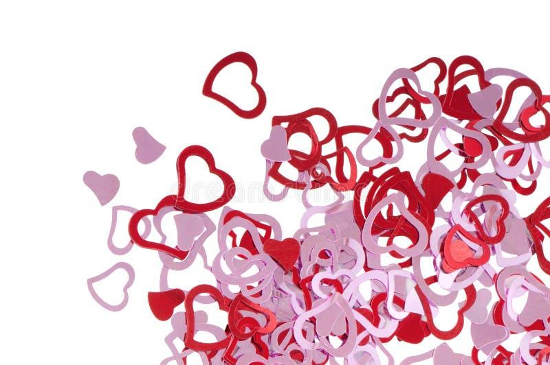 Coeurs rouges de valentine photos stock