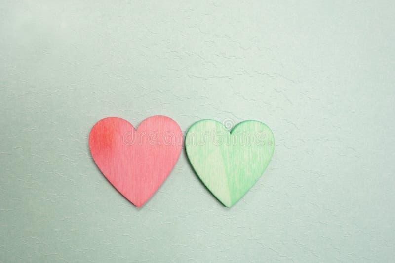 Coeurs rouges et verts photo libre de droits