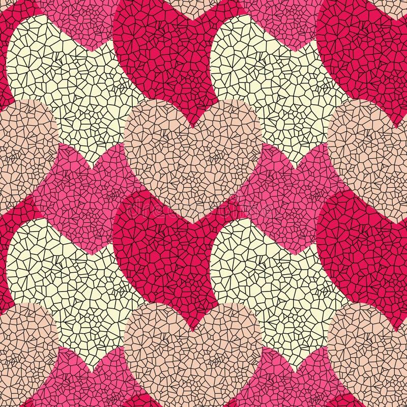Coeurs sans joint en verre souillé illustration stock