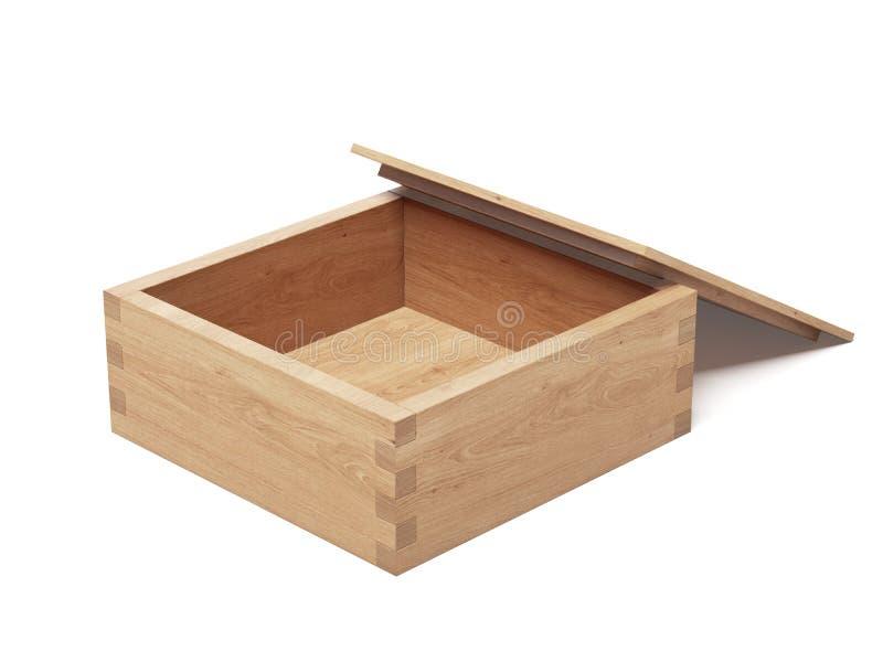Cofanetto di legno illustrazione di stock