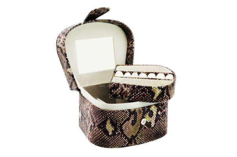 Cofanetto vuoto per gioielli fotografia stock libera da diritti