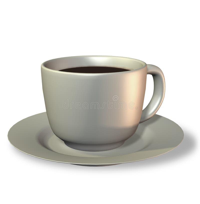 Cofee杯黑色Cofee 3D回报 免版税库存照片