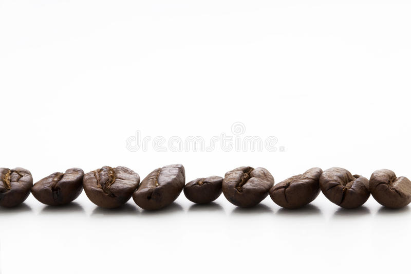 Cofee beans caffe coffee isolated on white stock images